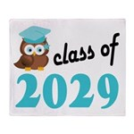 Class of 2029 (Owl) Throw Blanket