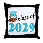 Class of 2029 (Owl) Throw Pillow