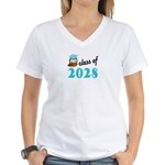 Class of 2028 (Owl) Women's V-Neck T-Shirt