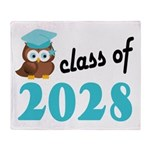 Class of 2028 (Owl) Throw Blanket