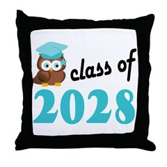 Class of 2028 (Owl) Throw Pillow