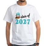 Class of 2027 (Owl) White T-Shirt