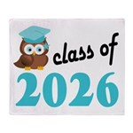 Class of 2026 (Owl) Throw Blanket