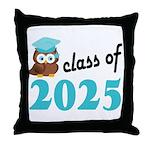 Class of 2025 (Owl) Throw Pillow