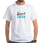 Class of 2024 (Owl) White T-Shirt