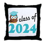 Class of 2024 (Owl) Throw Pillow
