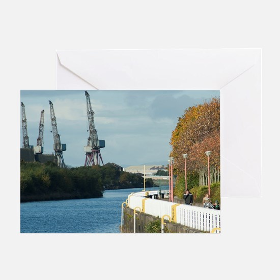 Clyde shipyards in Glasgow Scotland Greeting Card