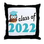 Class of 2022 (Owl) Throw Pillow