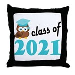 Class of 2021 (Owl) Throw Pillow