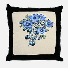 Paxton's Campanula fragilis hirsuta Throw Pillow