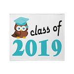 Class of 2019 (Owl) Throw Blanket