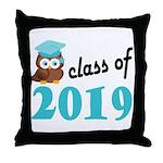 Class of 2019 (Owl) Throw Pillow
