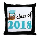 Class of 2018 (Owl) Throw Pillow