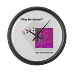 Play For Favors Large Wall Clock