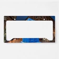glasgow police box License Plate Holder