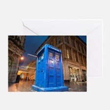 glasgow police box Greeting Card