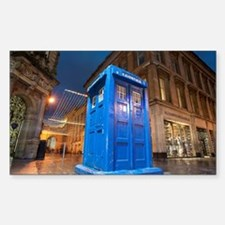 glasgow police box Sticker (Rectangle)