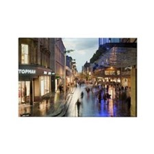 Sauchiehall Street in Glasgow at  Rectangle Magnet