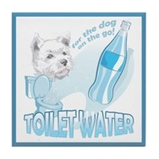 """Toilet Water"" Tile Coaster"