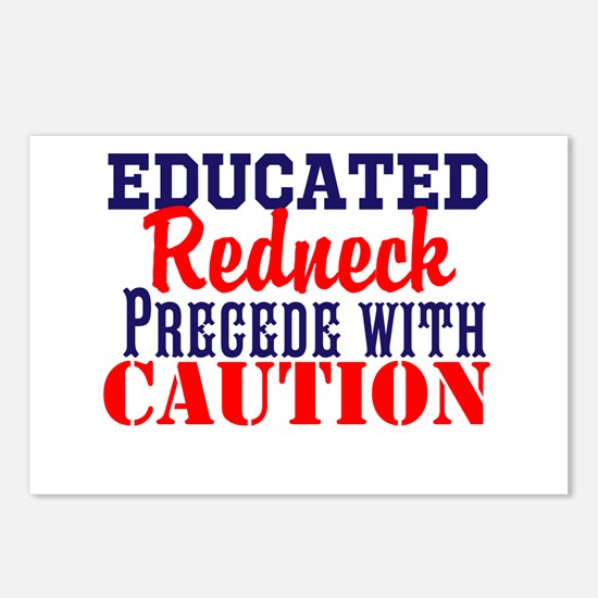 Educated Redneck Postcards (Package of 8)