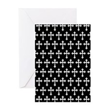 Gothic Crosses Pattern Greeting Card
