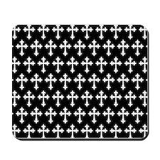 Gothic Crosses Pattern Mousepad