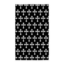 Gothic Crosses Pattern 3'x5' Area Rug