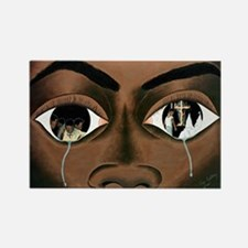 Tears of a Black Man Rectangle Magnet