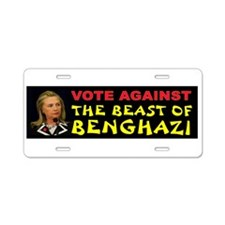 Hillary The Beast Aluminum License Plate