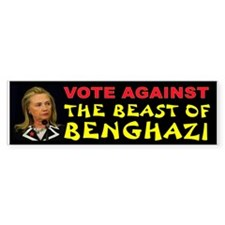 Hillary The Beast Bumper Car Sticker
