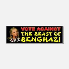 Hillary The Beast Car Magnet 10 X 3
