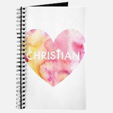 Christian Heart Pink Journal