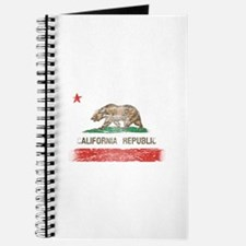 Distressed California Republic State Flag Journal