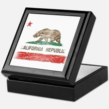 Distressed California Republic State Flag Keepsake