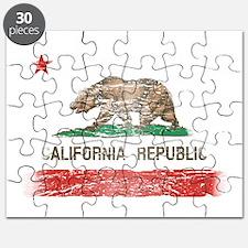 Distressed California Republic State Flag Puzzle
