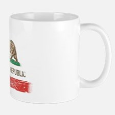 Distressed California Republic State Flag Mugs