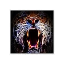 "Electrified Tiger Square Sticker 3"" x 3"""