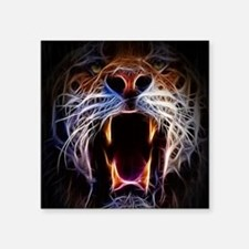 "Electrified Tiger Square Sticker 3"" x 3"""
