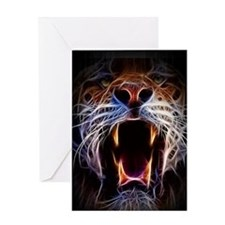 Electrified Tiger Greeting Card