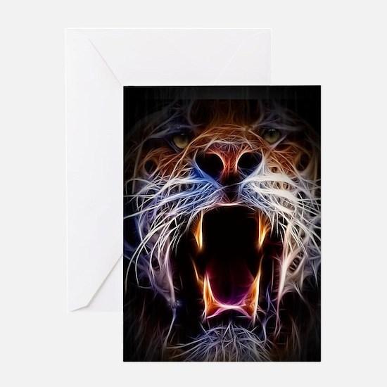 Electrified Tiger Greeting Card