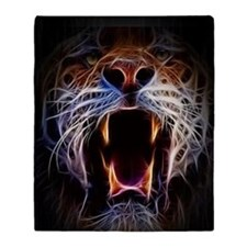 Electrified Tiger Throw Blanket