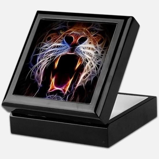 Electrified Tiger Keepsake Box
