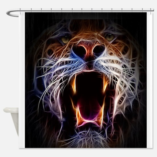 Electrified Tiger Shower Curtain