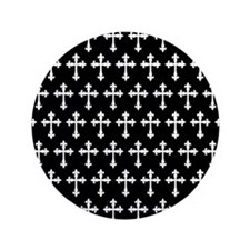 "Gothic Crosses Pattern 3.5"" Button"