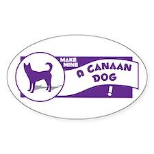 Make Mine Canaan Oval Decal