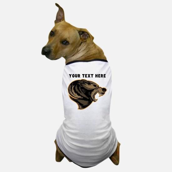 Custom Grizzly Bear Dog T-Shirt