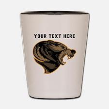 Custom Grizzly Bear Shot Glass
