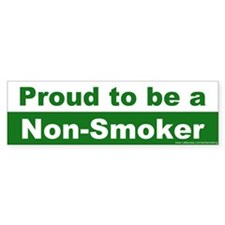 Bumper Sticker: Proud to be a Non-Smoker