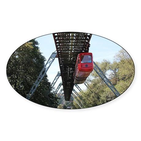 Wuppertal Floating Train Sticker (Oval)