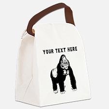Custom Silverback Gorilla Canvas Lunch Bag